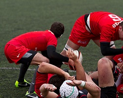 initiation rugby mêlée toulouse biarritz